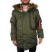 Alpha Industries Polar Jacket felvarró nélkül - dark green