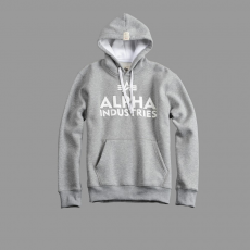 Alpha Industries Foam Print Hoody - szürke