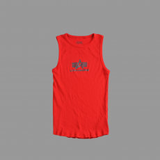 Alpha Industries Logo Tank - piros