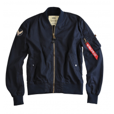 Alpha Industries MA-1 Ground Crew - replika kék