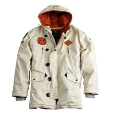 Alpha Industries Airborne Hood Parka - off white kabát