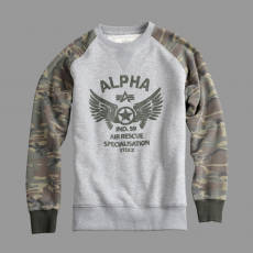 Alpha Industries Rescue Crew Neck - szürke