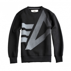 Alpha Industries Big Logo Crew Neck - fekete pulóver