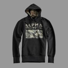 Alpha Industries Camouflage Print Hoody - fekete