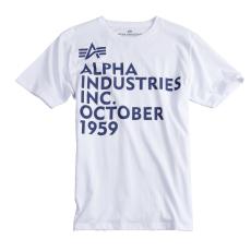 Alpha Industries Basic T Print 21 - fehér póló