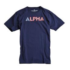 Alpha Industries Basic T Print 24 - replica blue