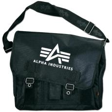 Alpha Industries Big A Oxford Courier Bag - fekete táska