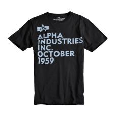Alpha Industries Basic T Print 21 - fekete póló