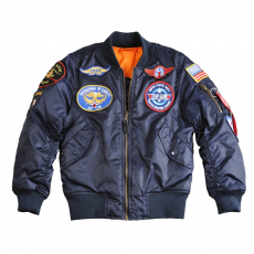 Alpha Industries MA-1 Patch Youth - replika kék