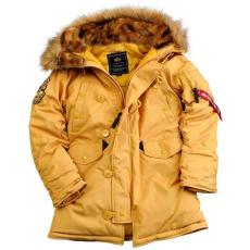 Alpha Industries Explorer Női - mustár színű kabát