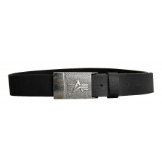 Alpha Industries Alpha Leather Belt fekete bőröv