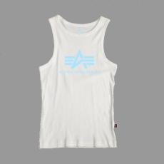 Alpha Industries Logo Tank - fehér/kék