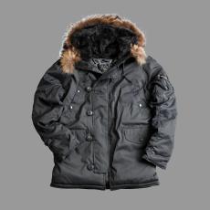 Alpha Industries Explorer valódi szőrmével - replica szürke kabát