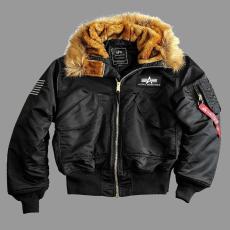 Alpha Industries 45P Hooded Custom - fekete színű kabát