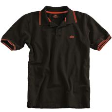 Alpha Industries Twin Stripe Polo - fekete/piros
