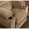 Gavin italtartós forgó - hintázó házimozi fotel extra kényelmes ülésekkel barna kárpittal - raktárról