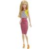 Barbie Fashionista barátnők stílusos babák pöttyös ruhás