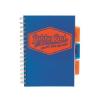 """Pukka pad Spirálfüzet, A5, kockás, 100 lap, PUKKA PAD """"Project book  Neon"""", kék"""