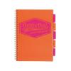 """Pukka pad Spirálfüzet, A4, vonalas, 100 lap, PUKKA PAD """"Project book  Neon"""", narancs"""
