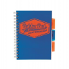 """Pukka pad Spirálfüzet, A5, vonalas, 100 lap, PUKKA PAD """"Project book  Neon"""", kék"""