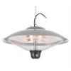 DURAMAXX Heizsporn, 60,5 cm (Ø), mennyezeti hősugárzó, LED lámpa, távirányító