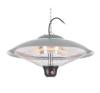 DURAMAXX Heizsporn, 60,5 cm (Ø), mennyezeti hősugárzó, LED lámpa, távirányító hősugárzó
