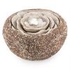 Blumfeldt Rosewater, 36 x 19 cm, kerti szökőkút, LED, szivattyú, terméskő dizájn