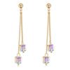 Arannyal bevont exkluzív függő fülbevaló színjátszó Swarovski kristályokkal + AJÁNDÉK DÍSZDOBOZ (0128.)