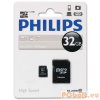Philips 32GB microSDHC Class10 + adapterrel