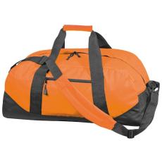 600 D gyöngyvászon sporttáska, narancs (Extra minőségű gyöngyvászon sporttáska, oldal zsebbel, tágas)