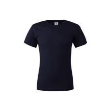 KEYA unisex pamut póló, sötétkék (Keya unisex környakas pamut póló, 180g/m2, 100% gyűrü fonásu pamut.)