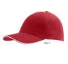 SOLS Sol´s sapka, 6 paneles, U, piros/fehér férfi ruházati kiegészítő