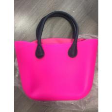 MyBag női szilikon táska Pink színű, kék fül