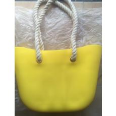 MyBag női szilikon táska Citromsárga színű (Natur kötél)