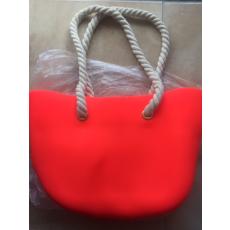 MyBag női szilikon táska neonnarancssárga színű (Natur kötél)