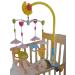 Forgó Zenélő ágyra szerelhető játék, műanyag állat figurák