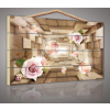 Virág 3D alagútban, fatábla kép 70x50 cm