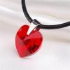 . Nyaklánc, Crystals from SWAROVSKI® kristályos szív alakú medállal,light siam piros