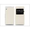 Haffner Sony Xperia M4 Aqua (E2303) S-View Flexi oldalra nyíló flipes tok - fehér