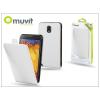 Muvit Samsung N9000 Galaxy Note 3 flipes tok képernyővédő fóliával - Muvit Slim - white