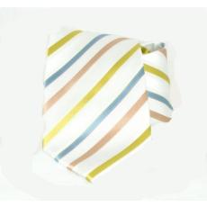 Goldenland nyakkendõ - Fehér-zöld,kék csíkos