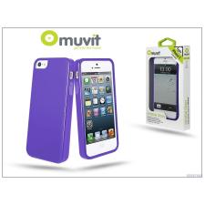 Muvit Apple iPhone 5/5S/SE hátlap - Muvit miniGel Glazy - lila mobiltelefon kellék
