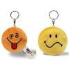 NICI Smiley Plüss kulcstartó forgatható narancs Hibbant/sárga Rosszkedvű 6cm
