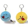 NICI Smiley Plüss kulcstartó forgatható kék Élvezkedő/sárga Rosszalló 6cm
