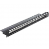 "DELOCK 19"" Keystone Patch Panel 24 Port with strain relief"