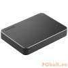 """Toshiba 1TB 2,5"""" CANVIO PREMIUM USB3.0 Aluminium/Metal Black"""