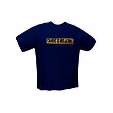GamersWear NOT A CRIME T-Shirt Navy (L)