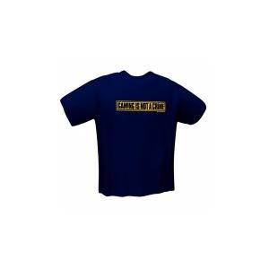 GamersWear GamersWear NOT A CRIME T-Shirt Navy (M)