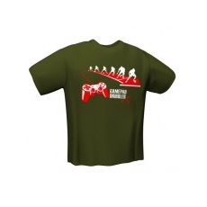 GamersWear GAMEPAD DRIBBLER T-Shirt Olive (L)
