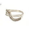 Áttört fehérarany köves gyűrű
